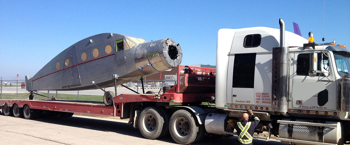 Flatbed tow your vintage airplane? No problem - Call us!