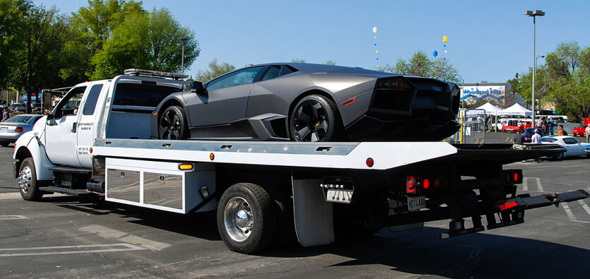 Flatbed towing for your precious toys.