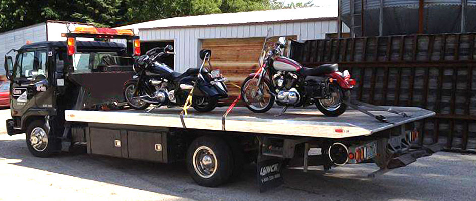 Best Motorcycle towing on flatbed tow trucks in Toronto
