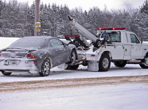 Snow, rain or shine we'll tow you  for less!